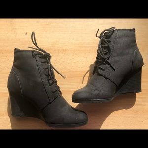 Faux Black Ankle Shoe boots